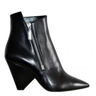 Saint Laurent Black Niki 85 Ankle Boots
