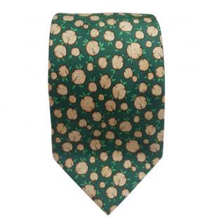 Hermes Silk Woodcutter Printed Tie