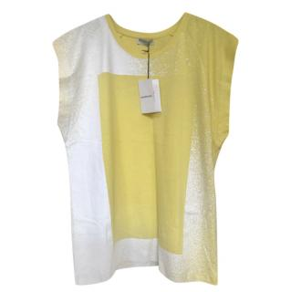 Balenciaga Yellow & White Spray Paint T-Shirt