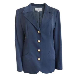 Valentino Woven Navy Tailored Vintage Jacket
