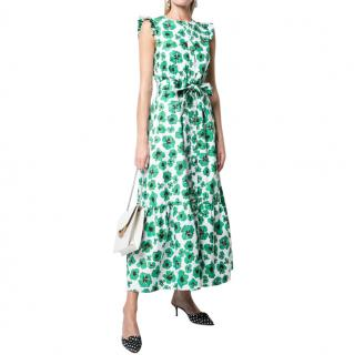 Borgo De Nor Green Cotton Poplin Gabriella Dress