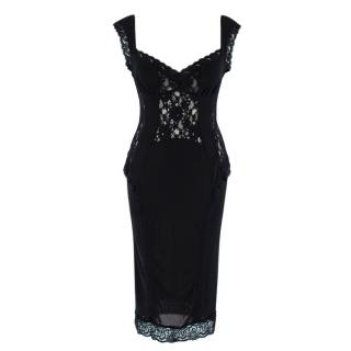 D&G Black Lace Sleeveless Sheer Dress