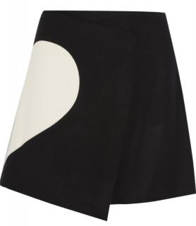 MSGM Two-Tone Wool Blend Wrap Skirt