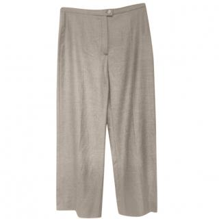 Hermes Grey Tailored Cashmere Pants