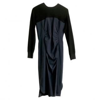 Sportmax Black/Navy Stretch Dress