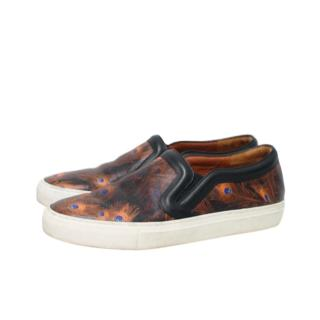 Givnechy Peacock Feather Print Slip-On Sneakers
