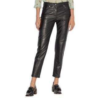 Coach Five Pocket Leather Jeans
