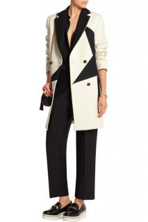 MSGM Two-Tone Wool Blend Coat