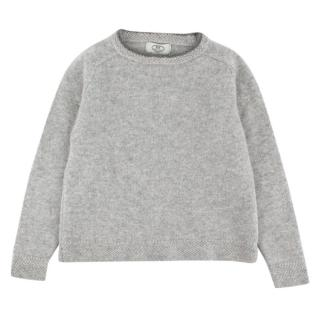 Papouelli Light Grey Pure Cashmere Jumper