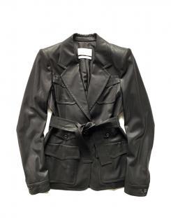 Yves Saint Laurent by Tom Ford Black Wool Blend Belted Jacket