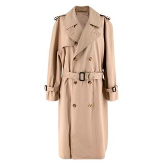 Wardrobe.NYC Beige Pure Cotton Trench Coat