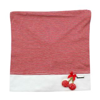 Il Trenino Artisanal Red & White Striped Cherry Applique Bandana Hat
