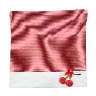 Il Trenino Artisanal Red & White Striped Cherry Applique Bandana Hat