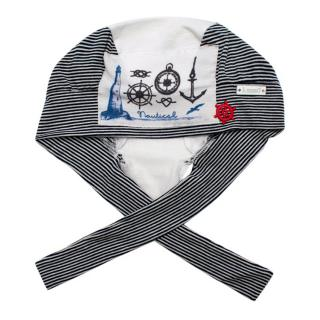 Il Trenino Artisanal Striped Sailor Baby Tie Hat