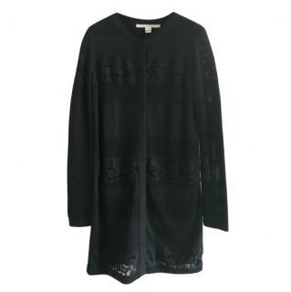 Diane Von Furstenberg Black Lace Trimmed Carmela Cardigan