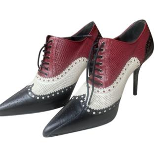 Gucci Tri-Colour Brogue Style Booties