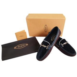 Tod's Nubuck Gommini TT Driving Loafers