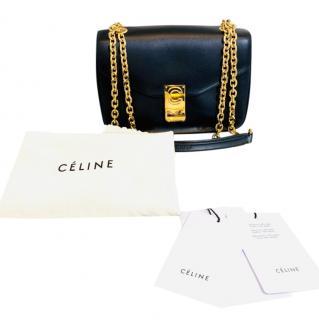 Celine Black Calfskin Medium C Shoulder Bag