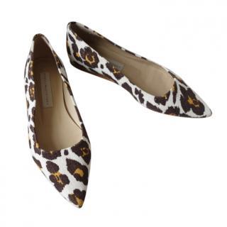 Stella McCartney Leopard Print Ballerina Flats