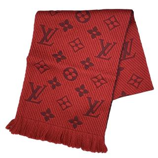 Louis Vuitton ruby red logo mania scarf