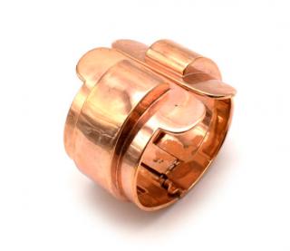 Bespoke Rose Gold Tone Curved Wide Open Cuff