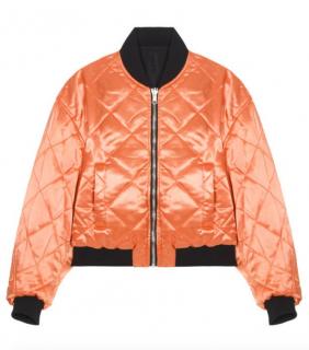 Maje Black & Orange Reversible Shell Jacket