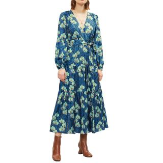 Borgo De Nor leopard and orchid print midi dress