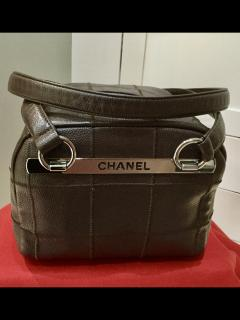 Chanel chocolate brown Choco Bar Shoulder Bag 2006