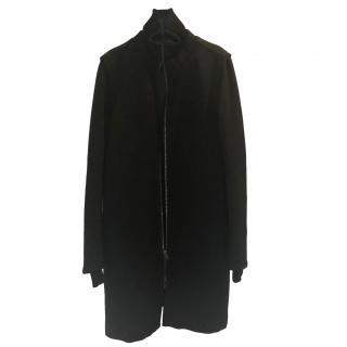 Prada Black Nylon Knit Coat