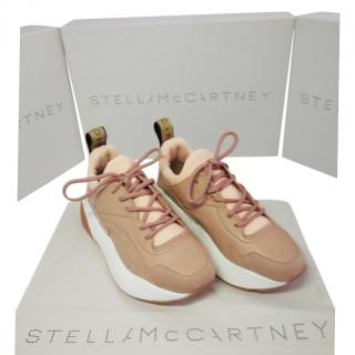 Stella McCartney blush pink canvas trainers