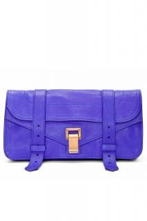 Provenza Schouler purple leather clutch