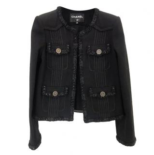 Chanel Black Metier D'Art Tailored Black Classic Jacket