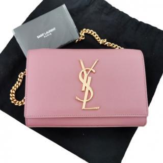 Saint Laurent Baby Pink Monogram Kate Shoulder Bag