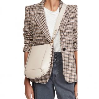 Isabel Marant Ecru Studded Oskan Crossbody Bag