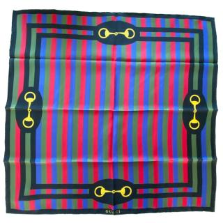 Gucci Multicoloured Striped Horsebit Shawl