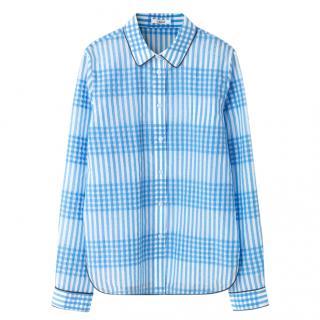 Ganni Marina Blue Charron Shirt