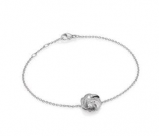 De Beers Aria Diamond & 18k White Gold Chain Bracelet