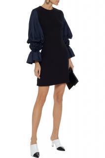Roksanda Elpey Silk-blend Satin And Cady Mini Dress