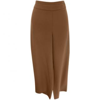 Armani Collezioni Ochre Wide Leg Pants