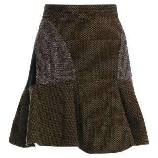 Stella McCartney Patti Tweed Flounce Mini Skirt