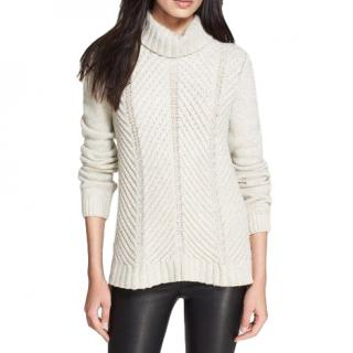 Vince Wool Blend Chevron Knit Jumper