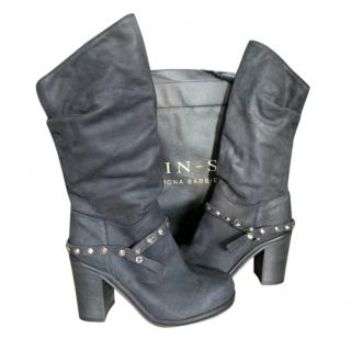 Twin-Set by Simona Barbieri Studded Leather Boots