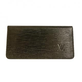 Louis Vuitton Black Epi Leather Cheque Book Holder