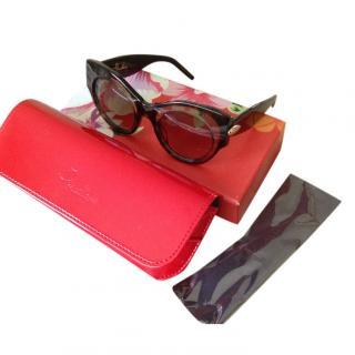 Pomellato Dark Tortoiseshell Havana Sunglasses