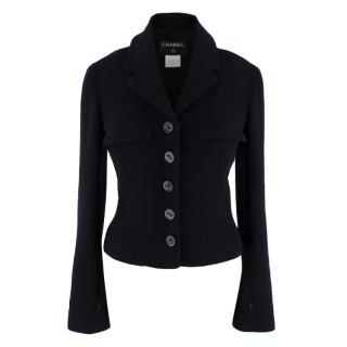 Chanel Black Wool & Cashmere Tweed Tailored Jacket