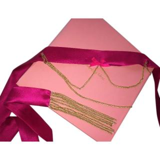 Maguy De Chadirac Pink Satin Chain Waist Belt