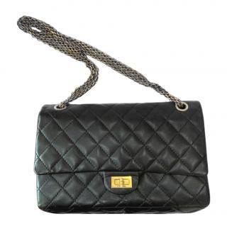 Chanel Black Calfskin 2.55 Reissue 226 Bag
