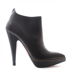 Alaia Black Smooth Leather Ankle Boots