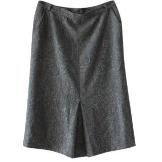 Max Mara Grey Wool Skirt