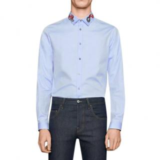 Gucci Blue Oxford Duke shirt with Kingsnake